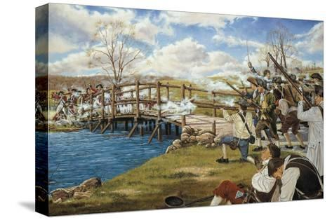 Battle of Concord--Stretched Canvas Print