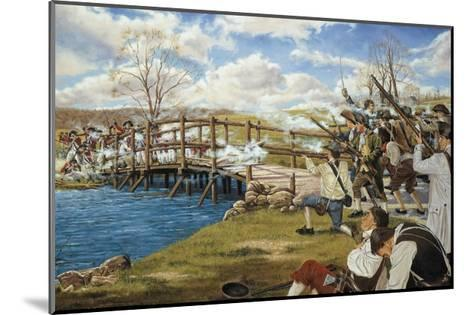 Battle of Concord--Mounted Giclee Print