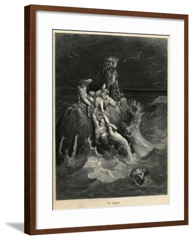 The Deluge or Noah's Ark-Gustave Dor?-Framed Art Print