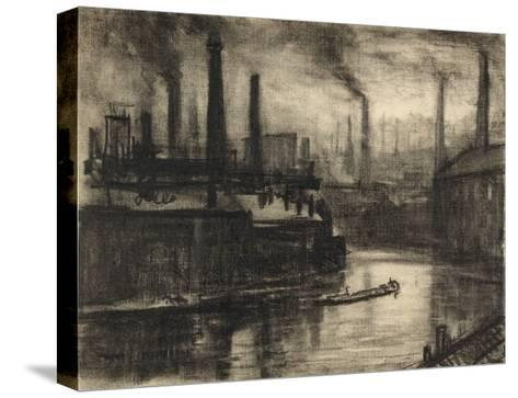 View of East London-Joseph Pennell-Stretched Canvas Print