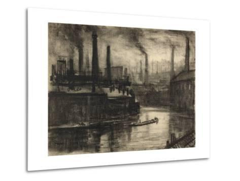 View of East London-Joseph Pennell-Metal Print