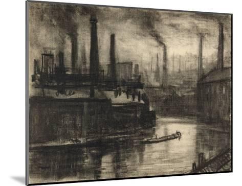 View of East London-Joseph Pennell-Mounted Giclee Print