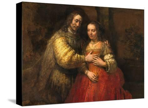 Portrait of a Couple as Figures from the Old Testament, known as 'The Jewish Bride'-Rembrandt van Rijn-Stretched Canvas Print