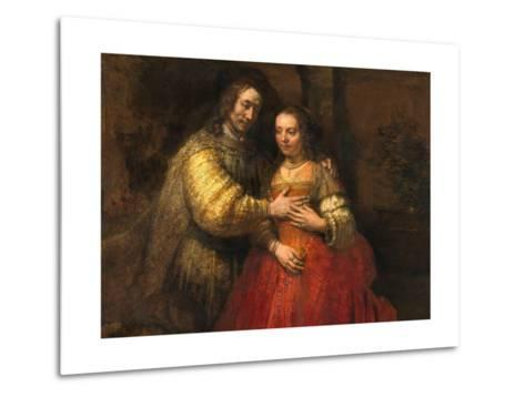 Portrait of a Couple as Figures from the Old Testament, known as 'The Jewish Bride'-Rembrandt van Rijn-Metal Print