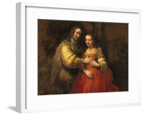 Portrait of a Couple as Figures from the Old Testament, known as 'The Jewish Bride'-Rembrandt van Rijn-Framed Art Print