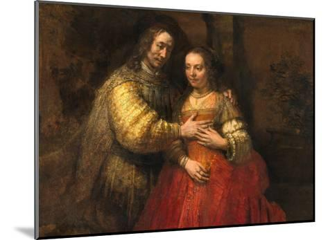 Portrait of a Couple as Figures from the Old Testament, known as 'The Jewish Bride'-Rembrandt van Rijn-Mounted Giclee Print