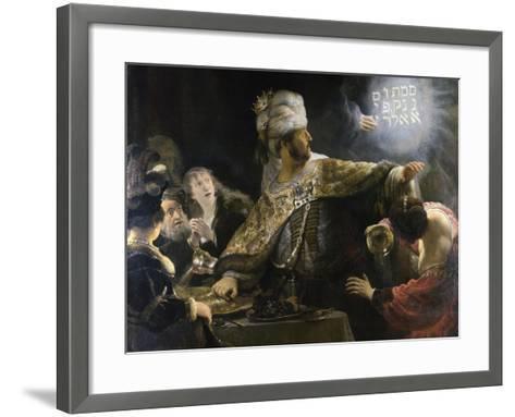 Belshazzar's Feast-Rembrandt van Rijn-Framed Art Print