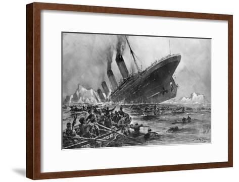 Sinking of the Titanic-Willy Stoewer-Framed Art Print