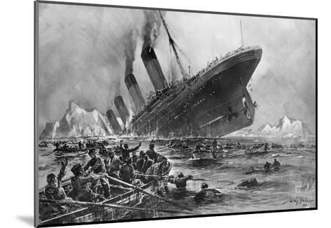 Sinking of the Titanic-Willy Stoewer-Mounted Giclee Print