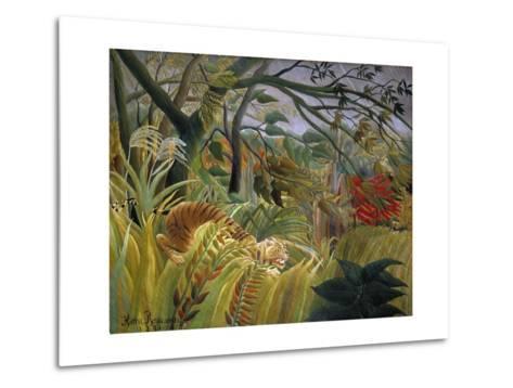 Tiger in a Tropical Storm (Surprised!)-Henri Rousseau-Metal Print