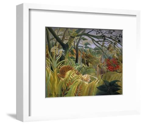 Tiger in a Tropical Storm (Surprised!)-Henri Rousseau-Framed Art Print