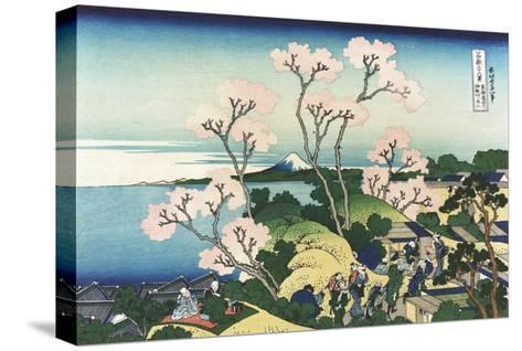 Goten-Yama Hill, at Shinagawa on the Tokaido-Katsushika Hokusai-Stretched Canvas Print