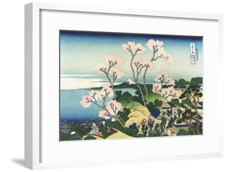 Goten-Yama Hill, at Shinagawa on the Tokaido-Katsushika Hokusai-Framed Art Print