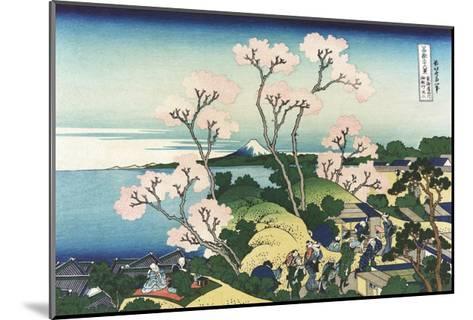 Goten-Yama Hill, at Shinagawa on the Tokaido-Katsushika Hokusai-Mounted Giclee Print