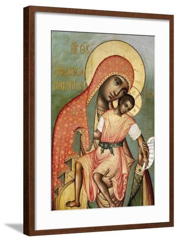 Icon of the Virgin Eleousa of Kykkos-Simon Ushakov-Framed Art Print