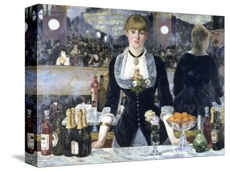 A Bar at the Folies-Bergere-Edouard Manet-Stretched Canvas Print