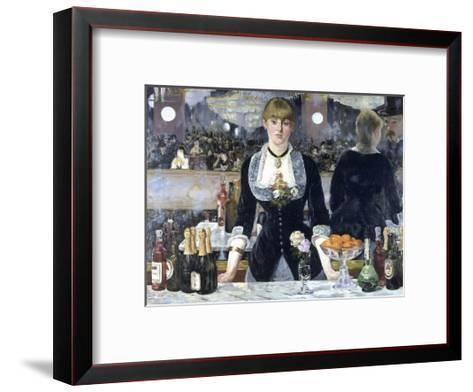 A Bar at the Folies-Bergere-Edouard Manet-Framed Art Print