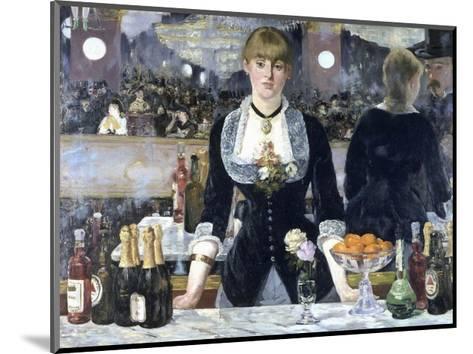 A Bar at the Folies-Bergere-Edouard Manet-Mounted Giclee Print