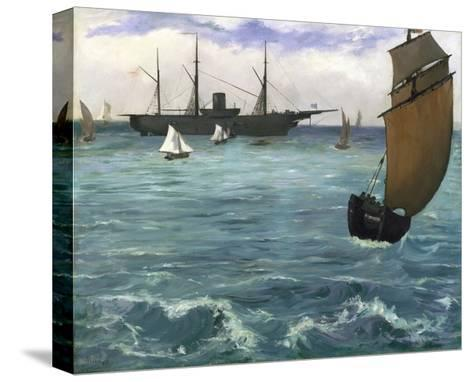 The 'Kearsarge' at Boulogne-Edouard Manet-Stretched Canvas Print