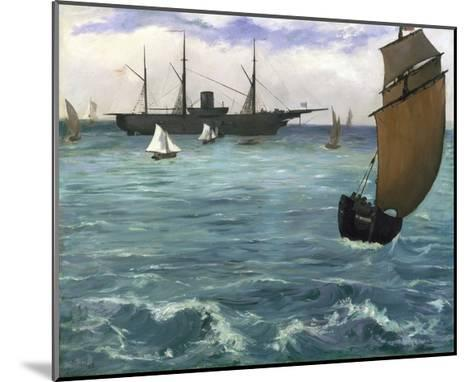 The 'Kearsarge' at Boulogne-Edouard Manet-Mounted Giclee Print