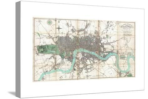 London in Miniature-Edward Mogg-Stretched Canvas Print