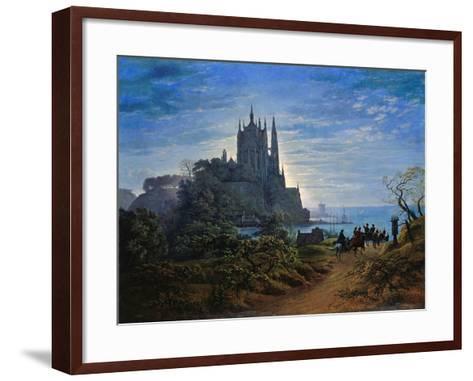 Gothic Church on a Cliff by the Sea by Karl Friedrich Schinkel--Framed Art Print