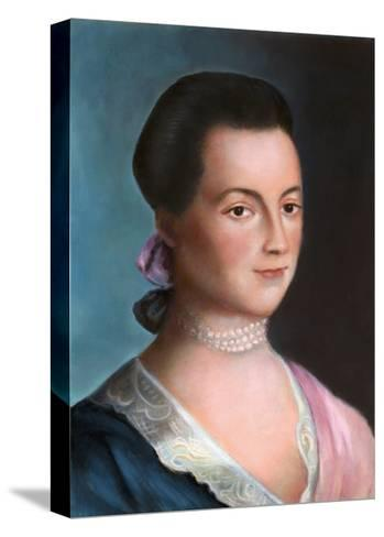 Portrait of Abigail Adams after a Painting-Benjamin Blythe-Stretched Canvas Print