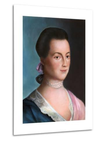 Portrait of Abigail Adams after a Painting-Benjamin Blythe-Metal Print