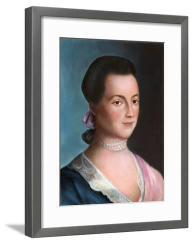 Portrait of Abigail Adams after a Painting-Benjamin Blythe-Framed Art Print