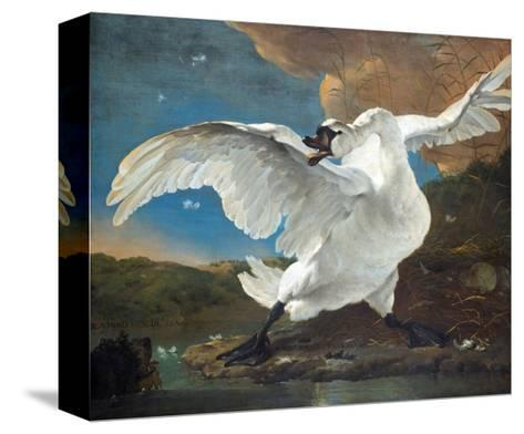 The Threatened Swan-Jan Asselijn-Stretched Canvas Print