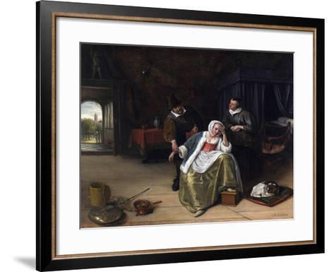 The Lovesick Maiden-Jan Havicksz^ Steen-Framed Art Print