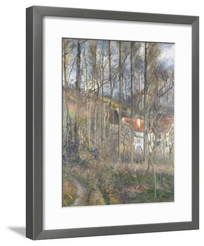 Pontoise - the Cite Des Boeufs and the Hermitage-Camille Pissarro-Framed Art Print