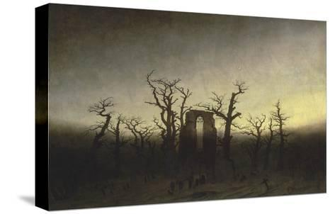 Abbey in the Oak Forest-Caspar David Friedrich-Stretched Canvas Print