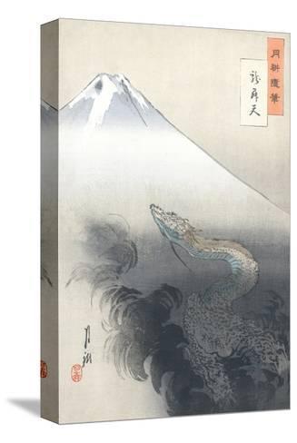 Dragon Rising to the Heavens-Ogata Gekko-Stretched Canvas Print