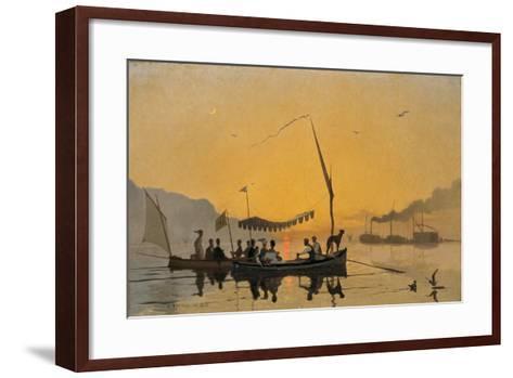 La Promenade Au Coucher Du Soleil-Francois Bocion-Framed Art Print