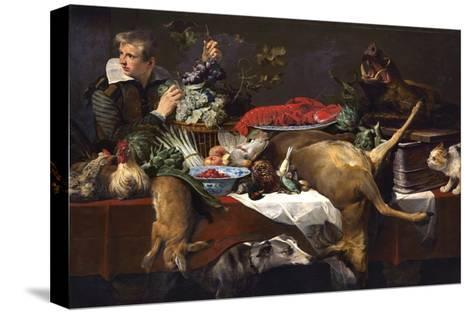 Pantry Scene with Servant-Frans Snyders-Stretched Canvas Print