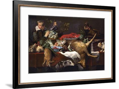 Pantry Scene with Servant-Frans Snyders-Framed Art Print