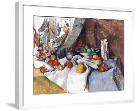 Still Life with Apples-Paul C?zanne-Framed Art Print