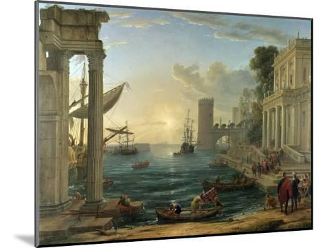 Seaport with the Embarkation of the Queen of Sheba-Claude Lorraine-Mounted Giclee Print
