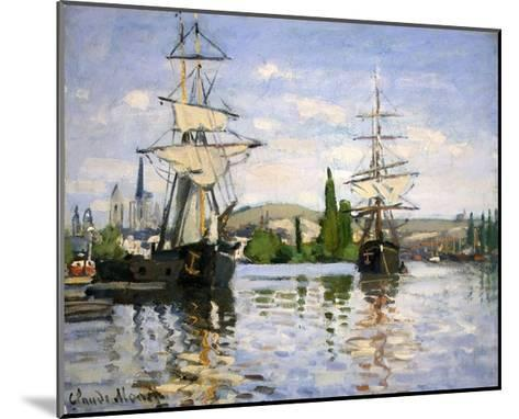 Ships Riding on the Seine at Rouen-Claude Monet-Mounted Giclee Print