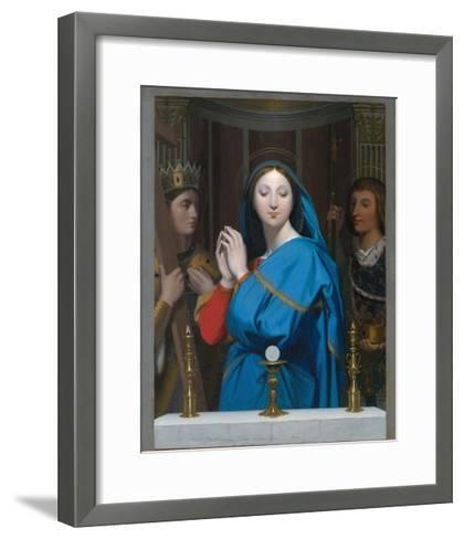 The Virgin Adoring the Host-Jean-Auguste-Dominique Ingres-Framed Art Print