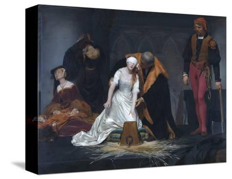 The Execution of Lady Jane Grey in the Tower of London in the Year 1554-Paul Delaroche-Stretched Canvas Print