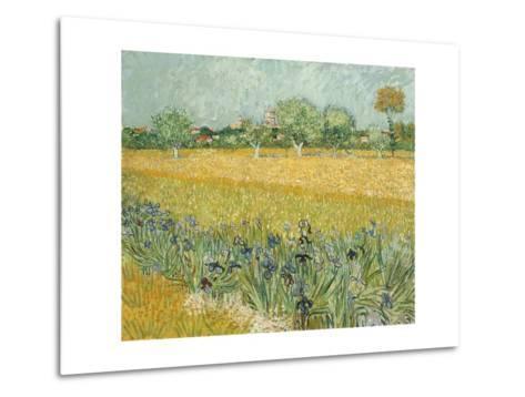 Field with Irises Near Arles-Vincent van Gogh-Metal Print