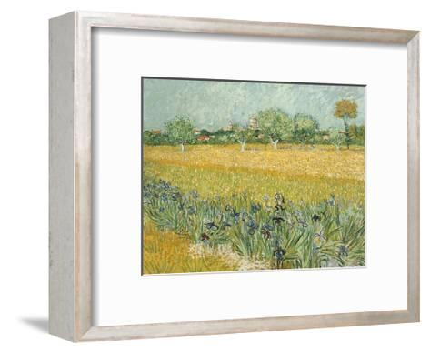 Field with Irises Near Arles-Vincent van Gogh-Framed Art Print