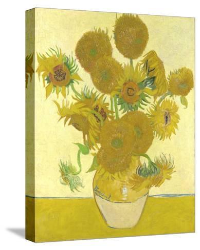 Vase with Fifteen Sunflowers-Vincent van Gogh-Stretched Canvas Print