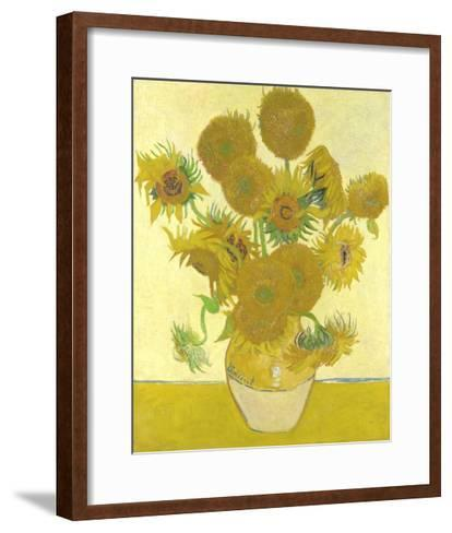 Vase with Fifteen Sunflowers-Vincent van Gogh-Framed Art Print