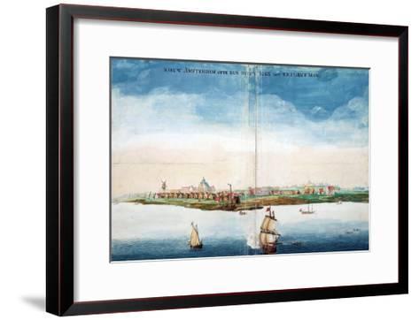 Gezicht Op Nieuw Amsterdam (A View of New Amsterdam, Aka New York City or Manhattan)-Johannes Vingboon-Framed Art Print