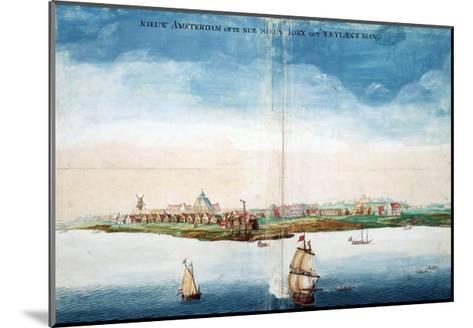 Gezicht Op Nieuw Amsterdam (A View of New Amsterdam, Aka New York City or Manhattan)-Johannes Vingboon-Mounted Giclee Print
