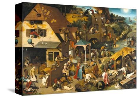 The Dutch Proverbs-Pieter Bruegel the Elder-Stretched Canvas Print