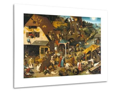 The Dutch Proverbs-Pieter Bruegel the Elder-Metal Print